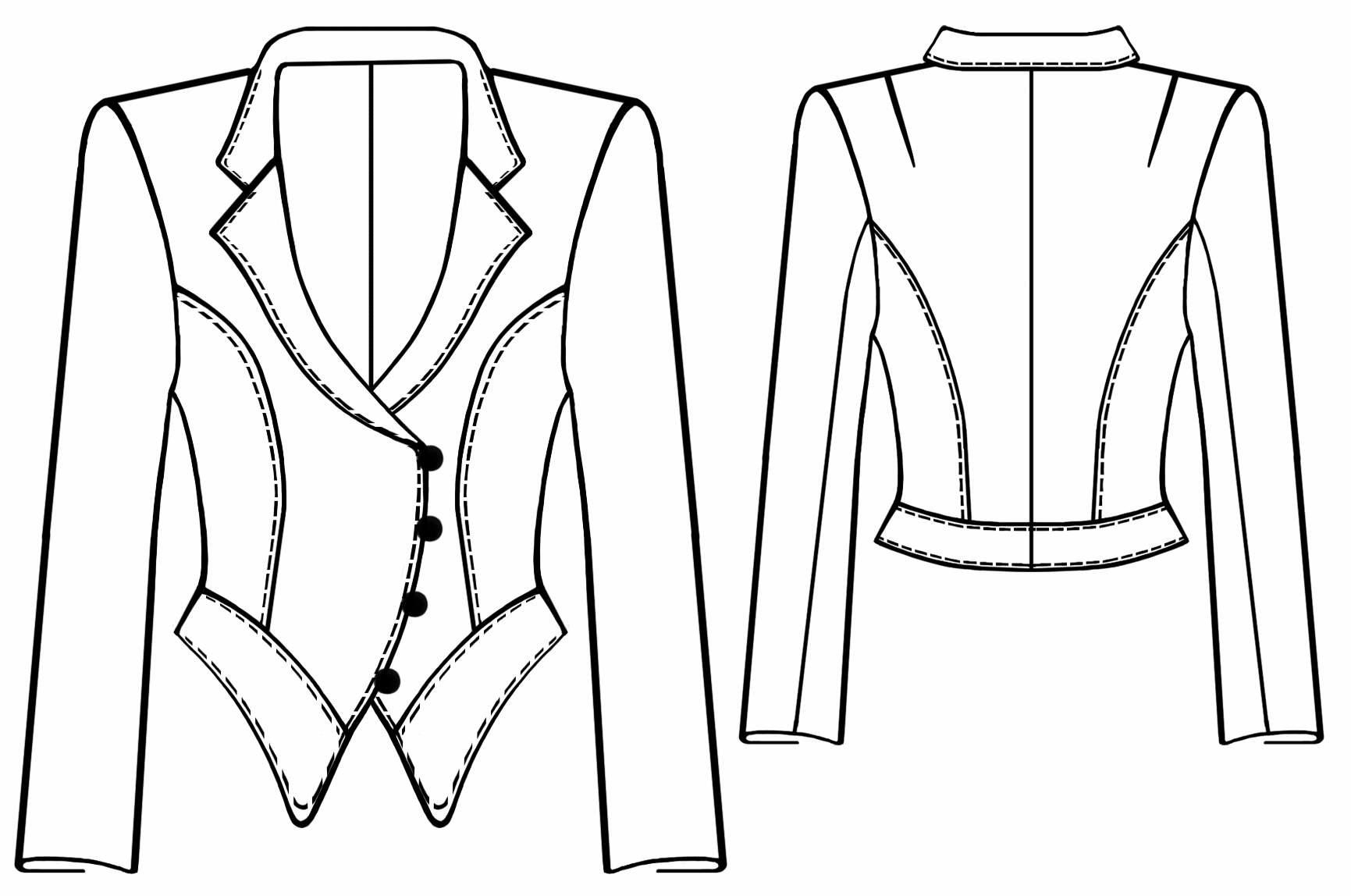 Выкройки джинсового женского пиджака