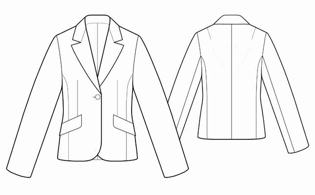 Пиджак мужской приталенный выкройка